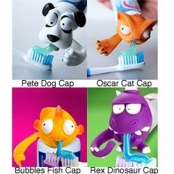 Spread Heads Toothpaste Caps