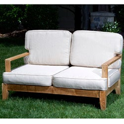 Deluxe Teak Loveseat
