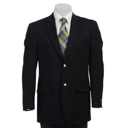 In The Now Men's Blue Wool Blend Blazer