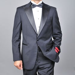Mantoni Men&#39;s Virgin Wool One-button Tuxedo 
