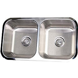 Stainless Steel 32.5-inch Undermount Kitchen Sink