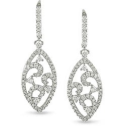 Miadora Signature Collection 14k White Gold 2ct TDW Diamond Earrings (H-I, SI1-SI2)