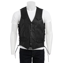 Biker's Dream Apparel Men's Leather Vest