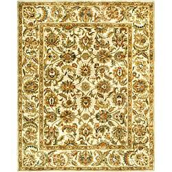 Safavieh Handmade Classic Ivory Wool Rug (6' x 9')