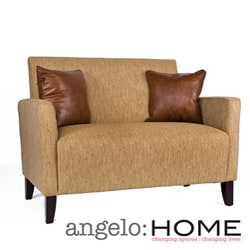 Angelo Home Sutton Loveseat Natural Khaki Tan Overstock Shopping Great Deals On Angelohome