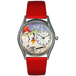 Whimsical Women's 'Christmas Snowman' Theme Watch