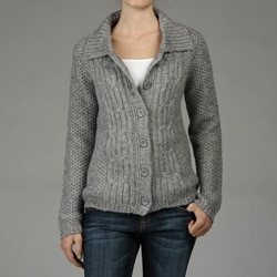 Carducci Women's Fisherman Knit Cardigan