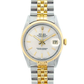 Pre-owned Rolex Datejust Men's Two-tone Silver Dial Watch