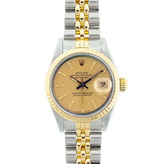 Pre-owned Rolex Datejust Women's Two-tone Champagne Dial Watch