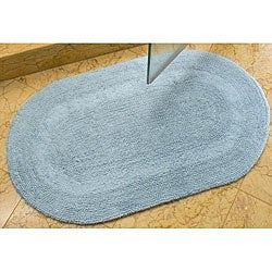 Safavieh Set of 2 Light Blue 2400-Gram Oval Bath Mats (1'9 x 2'10)