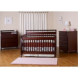 DaVinci Emily 4-in-1 Crib with Toddler Rail in Espresso