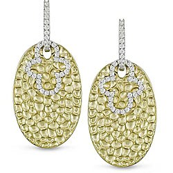 14k Two-tone Gold 1/2ct TDW Diamond Earrings (G-H, SI1-SI2)