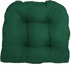 solid dark green outdoor uv resistant u shaped chair cushion
