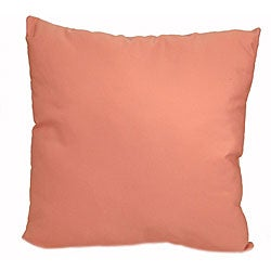 Solid Coral 24-inch Outdoor Floor Pillow