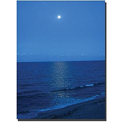 David 'Blue Waves II' Gallery-wrapped Canvas Art