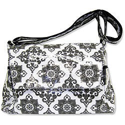 Trend Lab Versailles Black and White Messenger Diaper Bag