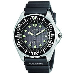 Citizen Men's Eco-drive Professional Diver Rubber Strap Watch