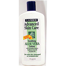 Lander 18-ounce Advanced Soothing Aloe Vera Lotion (Pack of 6)