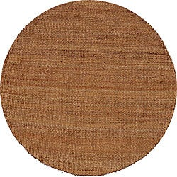 Hand-woven Brown Jute Rug (8' Round)