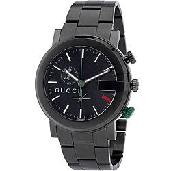 Gucci 101G Men's Round PVD-coated Steel Watch