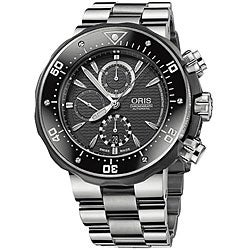 Oris TT1 Men's 674 7630 7154 MB Titanium Automatic Chronograph Watch