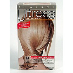 Clairol Ultress 8A Light Ash Blonde Permanent Hair Color (Pack of 4)