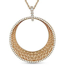 Miadora 18k Pink Gold 1ct TDW Diamond Circle Necklace (G-H, SI1-SI2)