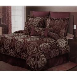 Venezia Plum/ Taupe 8-piece Comforter Set
