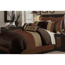 Regatta Pintuck Chocolate 8-piece Comforter Set