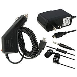 3-piece Headset /Charger Set for Blackberry Pearl