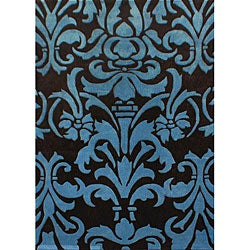 nuLOOM Hand-tufted Pino Collection Floral Brown Rug (5' x 8')