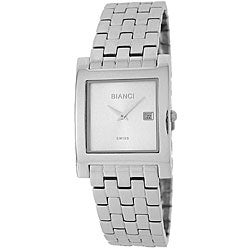 Roberto Bianci Men's Stainless Steel Square Case Watch