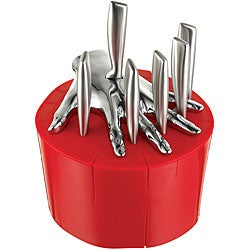 Five Finger Fillet Red Steak Knife Holder designed by Raffaele Iannello