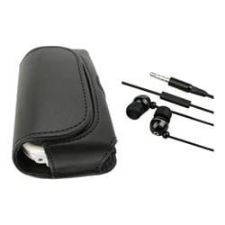 BasAcc Horizontal Leather Case/ Headset for Palm Centro 690
