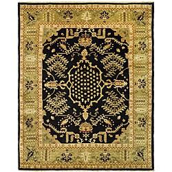 Indo Uzbek Hand-knotted Wool Rug (5'6 x 8')