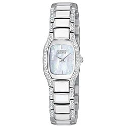 Citizen Women's Eco-Drive Normandie White Resin Watch