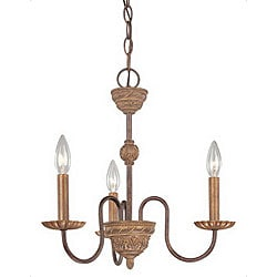 Villanova Series 3-light Candle Chandelier