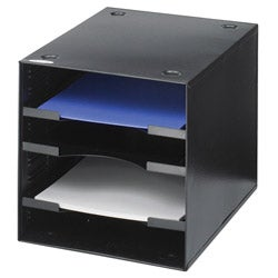 Safco Desktop Black 4-compartment Organizer