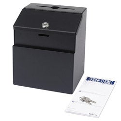 Safco Black Steel Suggestion Box