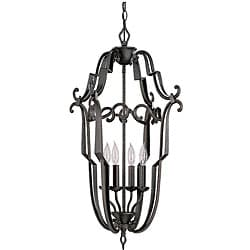Cordele 4-light Hall/ Foyer Peppercorn Finish Ligh Fixture