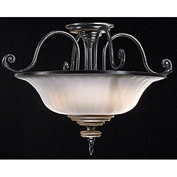 Lexington 3-light Semi-flush Mount Light