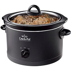 Rival SCR-450-B Round Manual 4.5-quart Crockpot