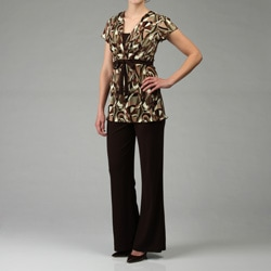 Connected Apparel Women's 2-piece Tunic and Pants Set