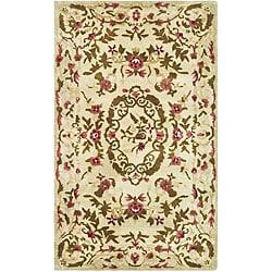 Safavieh Handmade Classic Ivory Wool Runner (2'3 x 4')