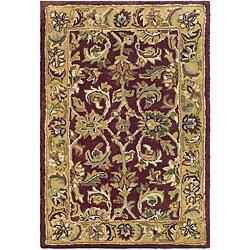 Safavieh Handmade Classic Red/ Gold Wool Rug (2' x 3')