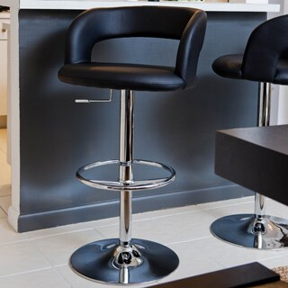 Leverett Black Bar Stool 11361693 Overstock Com