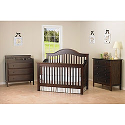 DaVinci Jayden 4-in-1 Crib with Toddler Rail in Espresso