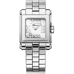 Chopard Women's 'Happy' Steel Floating Diamond Sport Watch