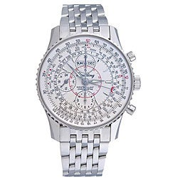 Breitling Men's 'Montbrillant Datora' Steel Chronograph Watch