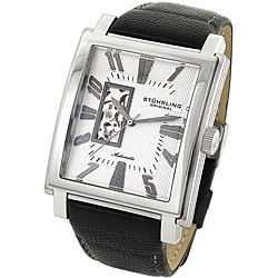 Stuhrling Original Men's 'Metropolitan' Silver Dial Automatic Watch